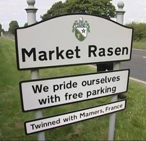 Market Rasen Sign