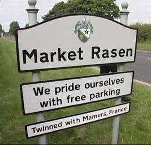 Market Rasen Sign