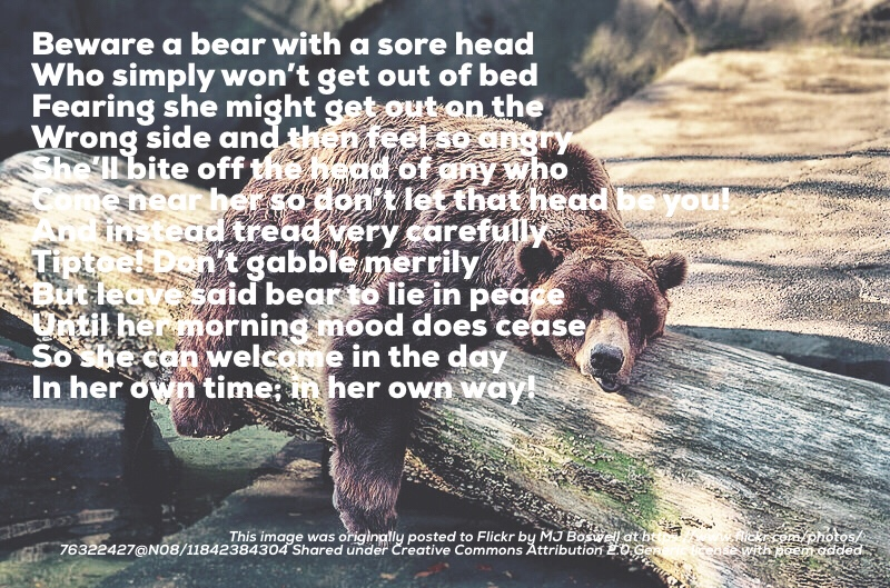 This image was originally posted to Flickr by MJ Boswell at https://www.flickr.com/photos/76322427@N08/11842384304 Shared under Creative Commons Attribution 2.0 Generic license with poem added